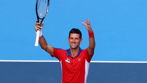 Djokovic venció a Nishikori y luchará por una medalla en Tokio 2020