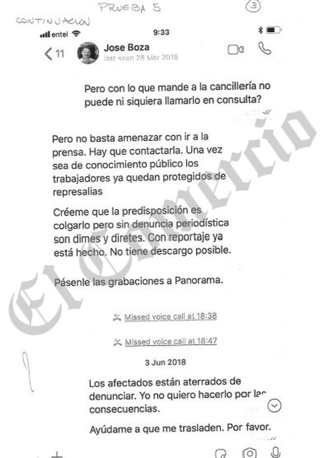 En este chat José Boza insta a Rubín a difundir los audios.