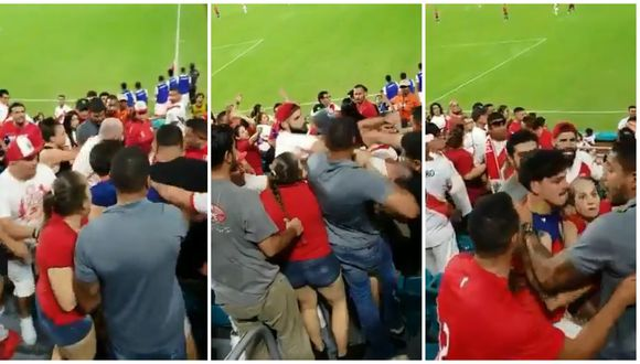 Perú vs. Chile: hinchas se pelearon durante pleno desarrollo del partido | VIDEO. (Foto: Captura de pantalla)