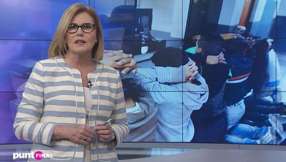 Mónica Delta varada en España tras suspensión de vuelos desde Europa. (Foto: captura de TV)