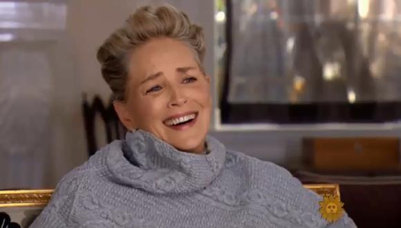 Sharon Stone, cuando le preguntan si en algún momento sufrió acoso en Hollywood. (Fuente: YouTube)