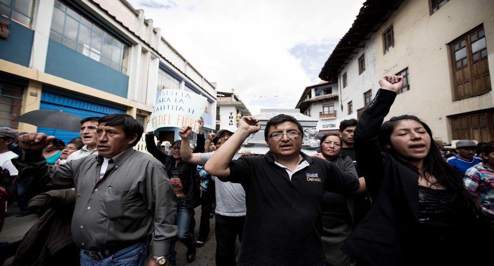 Cajamarca: protestas y dolor en cortejo fúnebre de Fidel Flores - 1