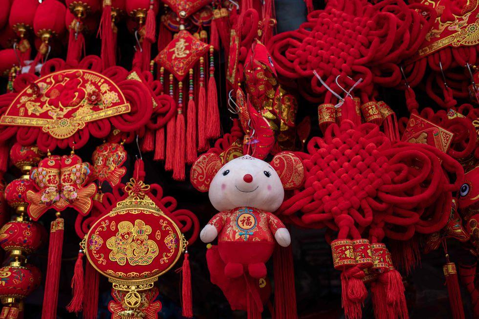 Las decoraciones por el Año Nuevo Chino ya se pueden ver en Beijing. (Foto: AFP)