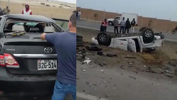 El choque de los dos vehículos fue frontal. (ATV+)