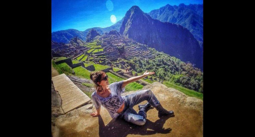 """Alejandra Guzmán. """"Cargándome de energía. Machu Picchu magno y espectacular, una vibra muy fuerte"""", publicó la cantante mexicana sobre su visita a Machu Picchu en mayo del 2014.(Foto: Instagram @laguzmanmx )"""