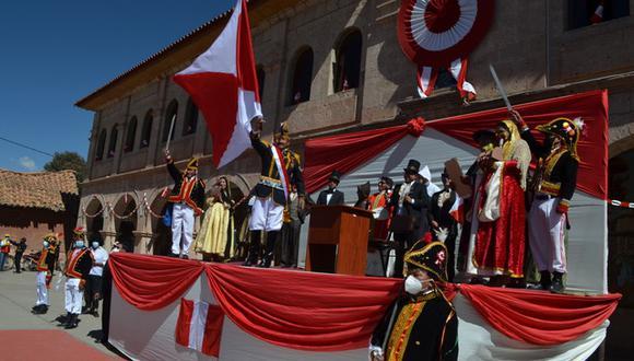 Actividad se realizó en marco del Bicentenario del Perú. (Foto: Carlos Fernández)
