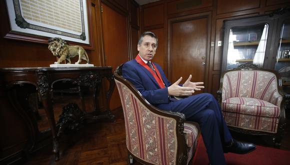 """Presidente de la Corte Superior de Lima afirma que existe un """"maltrato histórico"""" a los jueces del país por parte de la """"instancia política"""". (Foto: Mario Zapata)"""