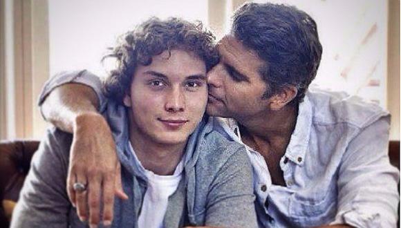 Christian Meier y Stéfano, su primer hijo, nacido en 1996. FOTO: Twitter.