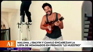 """Maluma, Juanes, Camilo y J Balvin, los artistas más nominados en premios """"Lo Nuestro"""""""
