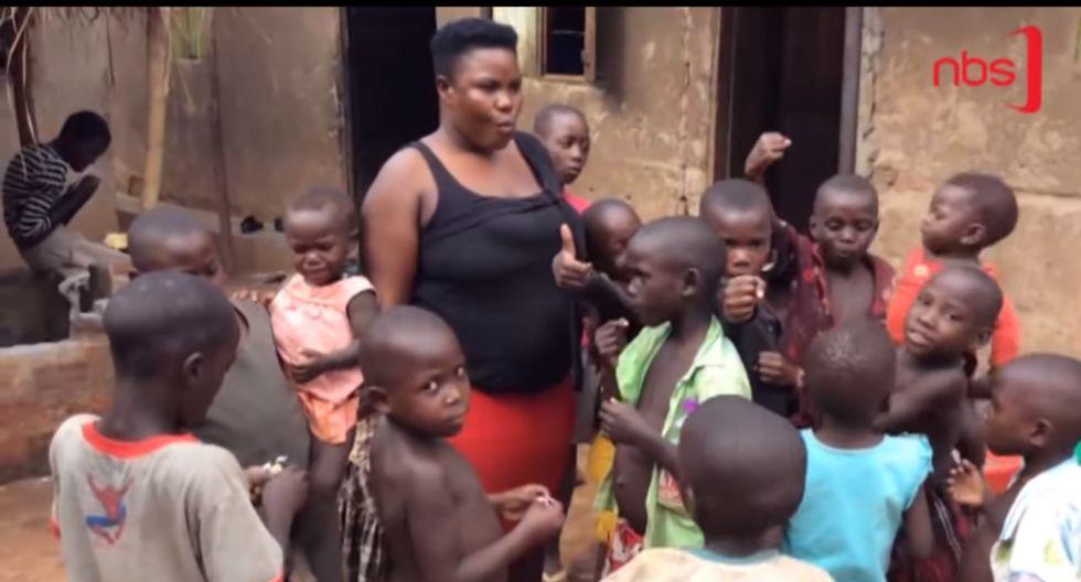 Mariam Nabatanzi: La madre de Uganda de 39 años que ha dado a luz a 44 hijos, entre ellos cuatrillizos, trillizos y mellizos. Foto: Captura de video