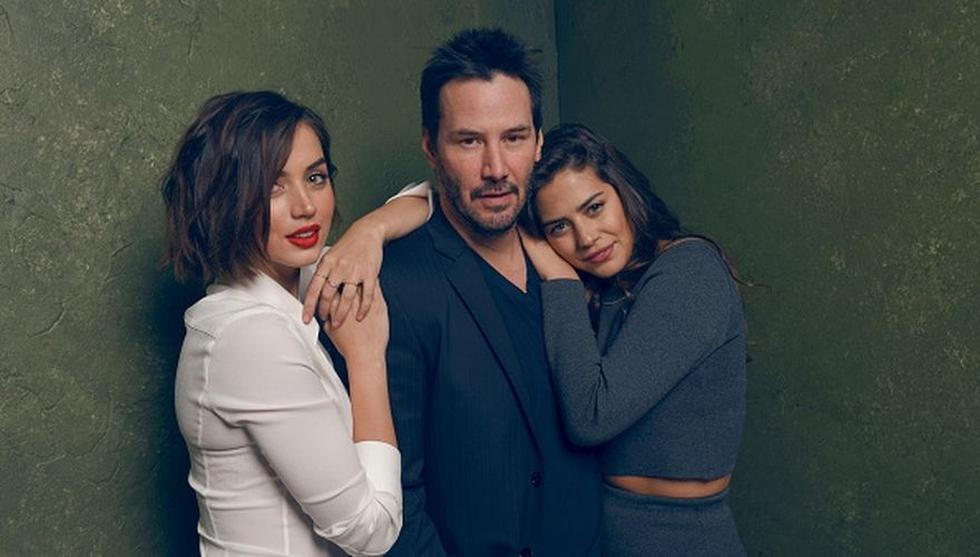 Keanu Reeves junto a las actrices Ana de Armas y Lorenza Izzo. (Foto: Agencia).