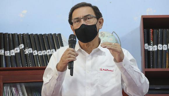 El presidente Martín Vizcarra visita la escuela especial de San Cristóbal, en Huancavelica, el pasado 23 de octubre.