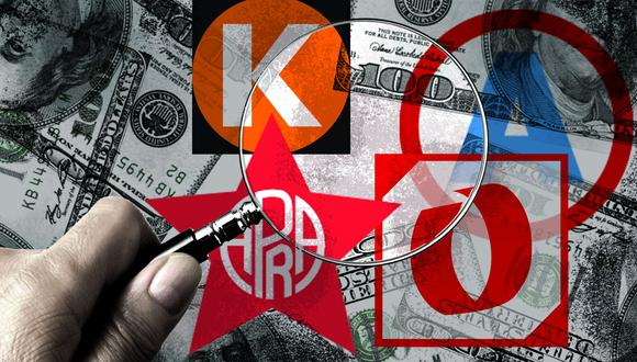 Cuatro partidos en carrera investigados por presunto delito de lavado de activos. (Ilustración: El Comercio)