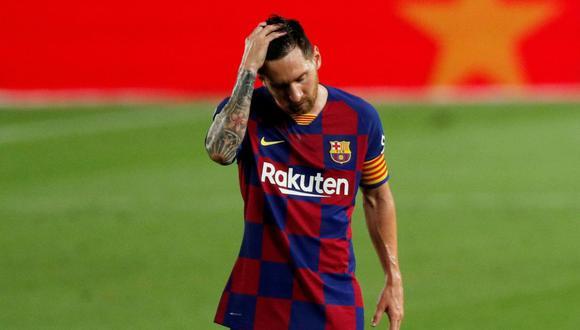 La noche más triste de Lionel Messi y los culés tras perder LaLiga en Camp Nou. (Agencias)