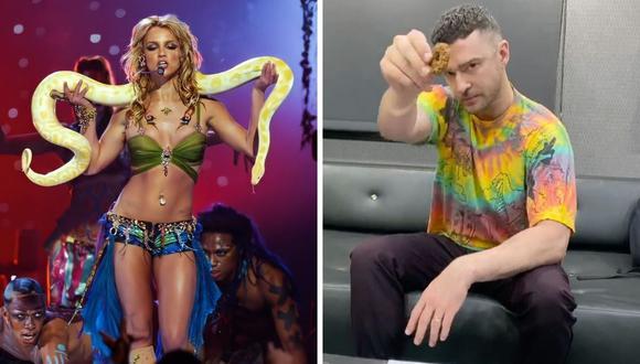 Britney Spears y Justin Timberlake tuvieron una relación a fines de la década de 1990 y principios de la del 2000. (Composición: Twitter @FILTERMexico / Instagram @justintimberlake)