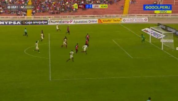 Universitario vs. Melgar EN VIVO: Jersson Vásquez marcó golazo desde fuera del área en Arequipa | VIDEO. (Video: Gol Perú / Foto: Captura de pantalla)