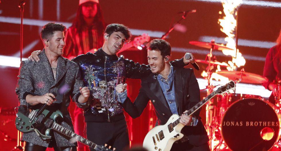 """Los Jonas Brothers interpretaron dos temas de sus carreras como solistas y su nuevo sencillo """"Sucker"""". (Foto: El Comercio)."""