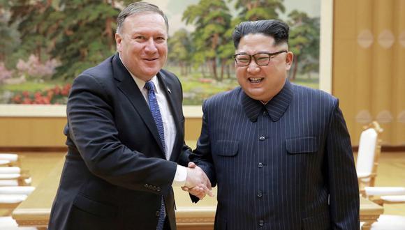 Mike Pompeo está satisfecho tras reunirse con Kim Jong-un en Corea del Norte. (AP)