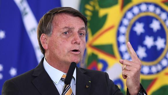 El presidente de Brasil, Jair Bolsonaro, puso en duda la eficacia de las vacunas contra el nuevo coronavirus. (Foto de archivo: AFP)