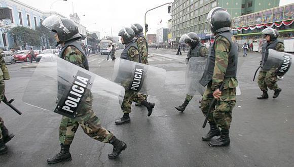 Huelga policial fue convocada por agente ligado a radicales