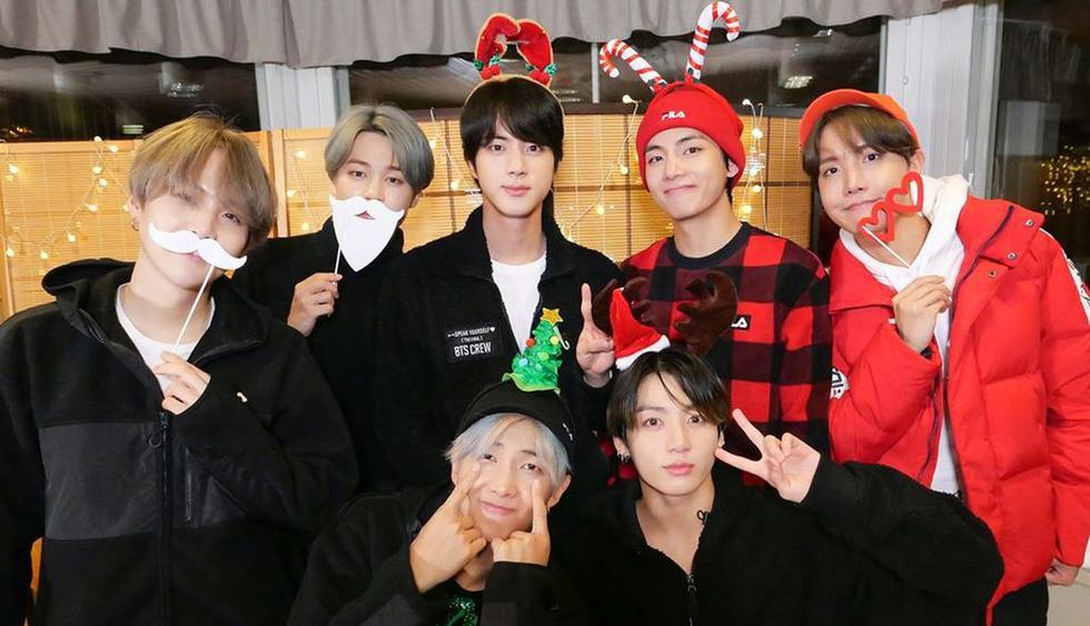 BTS y su divertido saludo de Navidad. (Foto: @bangtan.official)
