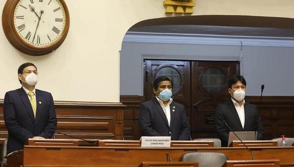 La bancada de Somos Perú no apoyará una posible vacancia presidencial. (Foto: Congreso de la República)