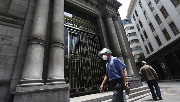 El indicador S&P/BVL Perú General, el más representativo de la bolsa, caía un -0.94%. (Foto: Jesus Saucedo / GEC)