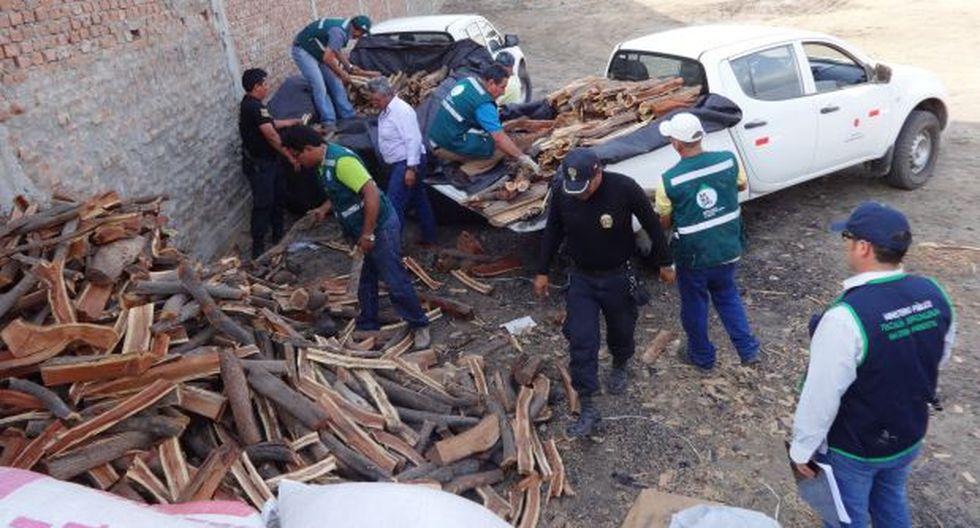 Sullana: incautan más de 25 toneladas de carbón vegetal