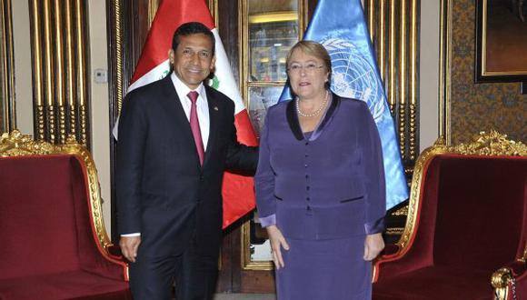 El Gobierno peruano ya confirmó la participación del presidente Ollanta Humala en la ceremonia en la que Bachelet asumirá la jefatura de Chile, prevista para el próximo 11 de marzo. (Foto: El Comercio)