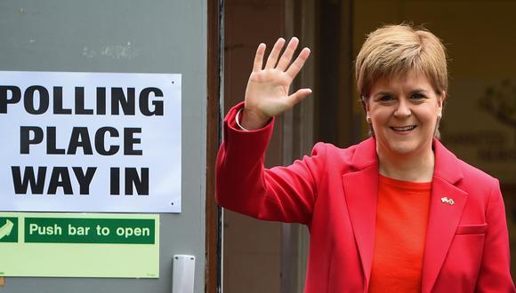 Escocia fija reglas para un referéndum de independencia del Reino Unido. En la imagen, la primera ministra Nicola Sturgeon. (AFP).