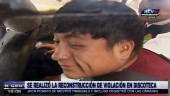 Violación en discoteca: el guiño burlón de Jhon Pizarro Coronel