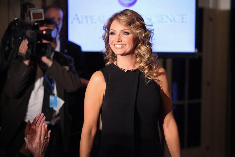 Angélica Rivera durante un evento en New York, en septiembre de 2014 (Foto: AFP)
