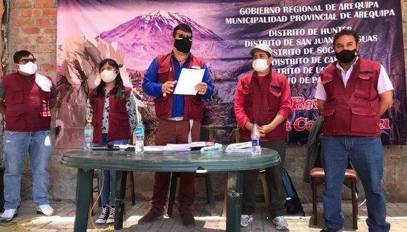 Promotores de la revocatoria se juntaron para formar un colectivo que impulsará la revocatoria de las principales autoridades de Arequipa. (Foto: Zenaida Condori)