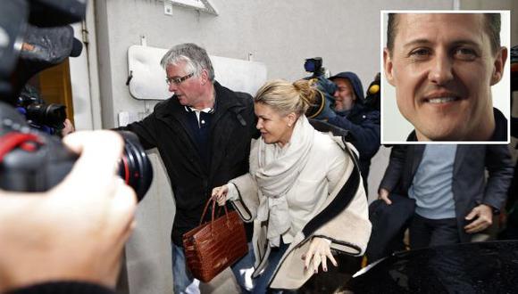 """Esposa de 'Schumi' sobre acoso de la prensa: """"Déjennos en paz"""""""