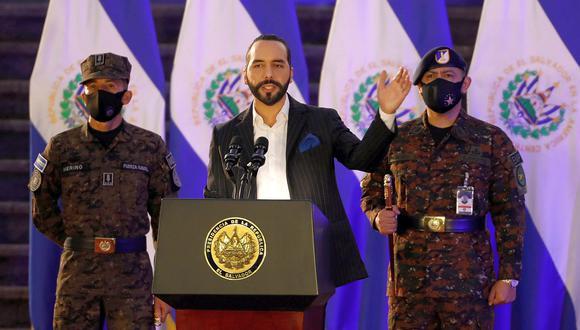 El presidente de El Salvador, Nayib Bukele, participa en una ceremonia el pasado julio en la capital del país, San Salvador. (Foto: José Cabezas/Reuters).