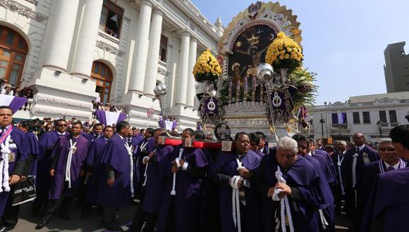 La procesión de la imagen del Señor de los Milagros llegó al Congreso el año pasado. (Foto: Congreso de la República)