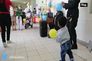 Menor agredido fue agasajado por su cumpleaños