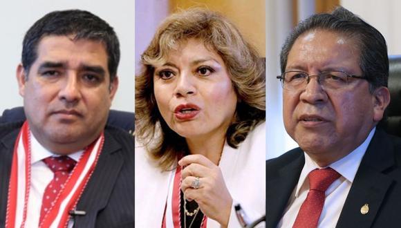 Zoraida Ávalos (Fiscal de la Nación), Pablo Sánchez y Víctor Rodríguez Monteza son los tres fiscales que integran la Junta de Fiscales Supremos.
