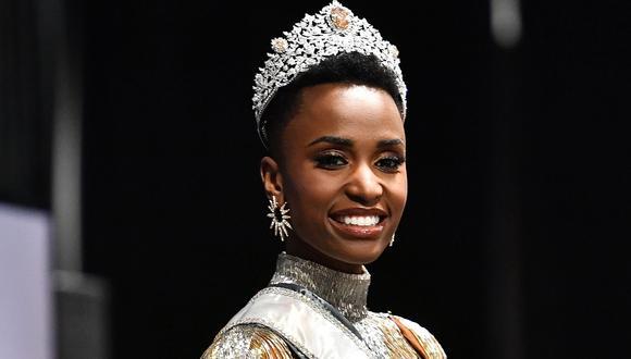 Zozibini Tunzi es la tercera sudafricana en ganar el Miss Universo. (Foto: AFP)