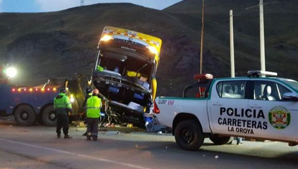 El accidente en La Oroya dejó cinco muertos. (Foto: Andina)