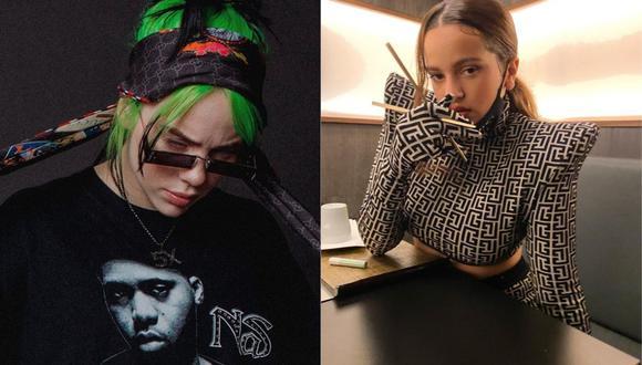 """""""Lo vas a olvidar"""", lo nuevo de Billie Eilish y Rosalía. (Foto: @billieelish / @rosalia.vt)"""