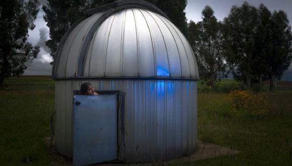 Valeria, desde Huancayo, siempre se ha preguntado si hay vida en Marte. Aquí en un observatorio de su ciudad. (Foto: Lucero del Castillo)