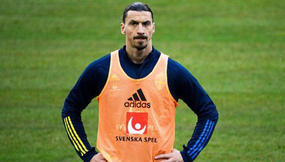 Ibrahimovic retornó a la selección de Suecia tras cinco años de ausencia. (Foto: AFP)