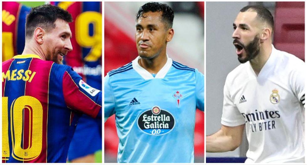 El equipo ideal de la fecha 27 de LaLiga, con Renato Tapia. (AFP / Celta de Vigo)