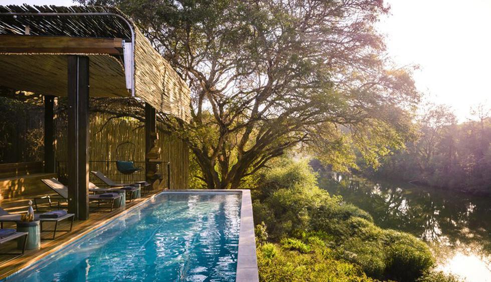 Singita Sweni Lodge, Sudáfrica. Esta piscina infinita cuenta con una espectacular vista al río Sweni, cerca de la frontera de Sudáfrica y Mozambique. (Foto: Difusión)