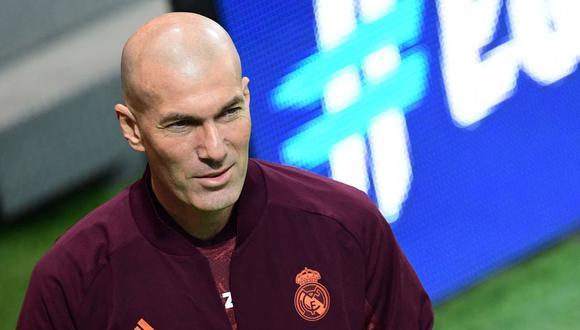 Zinedine Zidane solo piensa en la victoria de Real Madrid en el duelo ante Atalanta. (Foto: AFP)