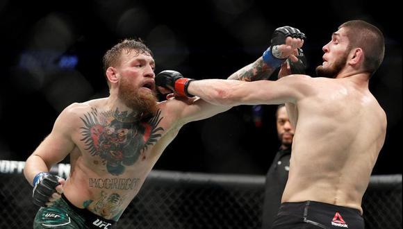El 6 de octubre del 2018 se enfrentaron en el evento estelar del UFC 229 en Las Vegas. El vencedor fue Khabib, pero los aficionados esperan que McGregor tenga su revancha. (Foto: AP).