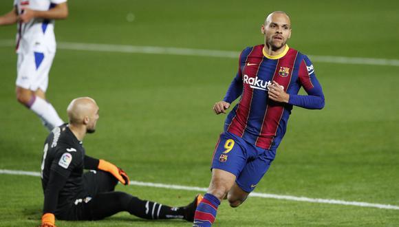 Martin Braithwaite confirmó que se queda en Barcelona. (Foto: REUTERS)