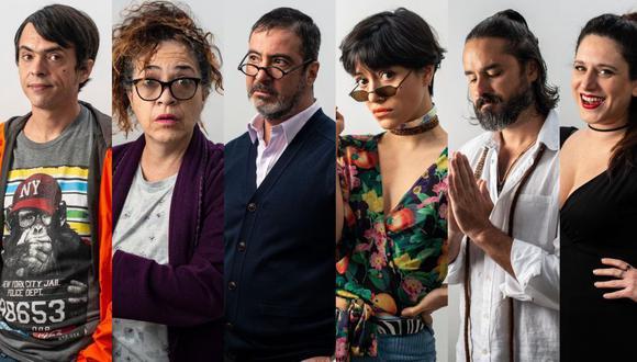 Gabriel Iglesias, Wendy Ramos, Carlos Carlín, Jely Reátegui, Rómulo Assereto y Gisela Ponce de León protagonizan la serie. (Fotos: Elías Alfageme)