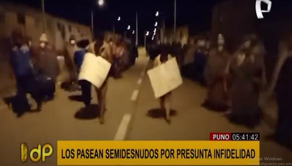 Les colocaron carteles y fueron vigilados. (Foto: captura de video TV)
